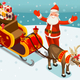 Vector Santa Claus Sleigh Illustration - GraphicRiver Item for Sale