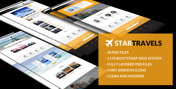 Star Travels - Multipurpose PSD Template
