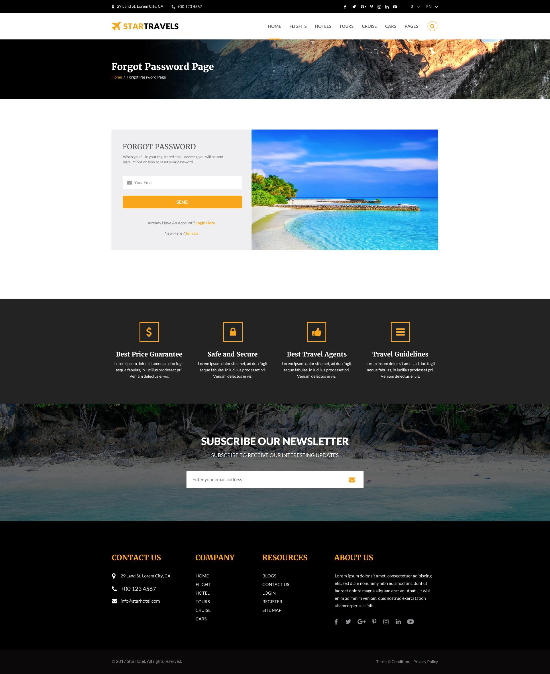 Star Travels - Multipurpose PSD Template