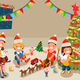 Winter Christmas Party with Kids People - GraphicRiver Item for Sale