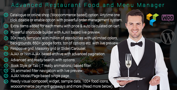 Wordpress- Advanced Restaurant Menu Manager - CodeCanyon Item for Sale