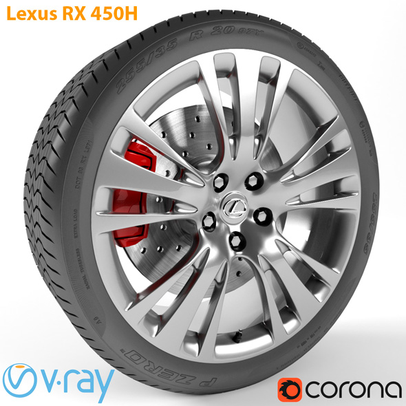Lexus RX 450h Wheel - 3DOcean Item for Sale