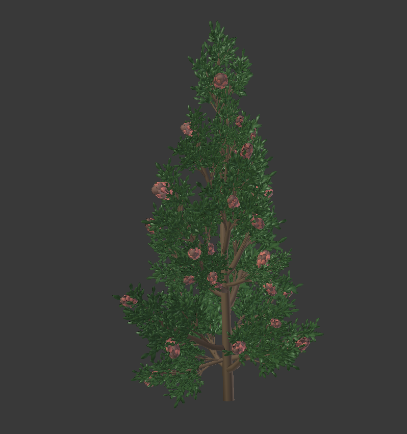 Low Poly, Customizable Pine Tree