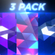 PolyWaves - 3 Pack - Professional VJ Background Loops