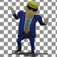 3D Boss Donald Trump Upbeat Corporate Inspiring Dance