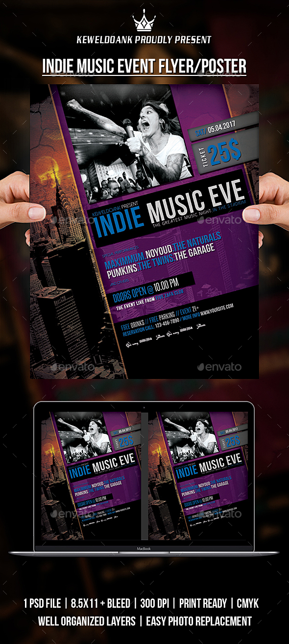 Indie Music Event Fyer / Poster - Events Flyers