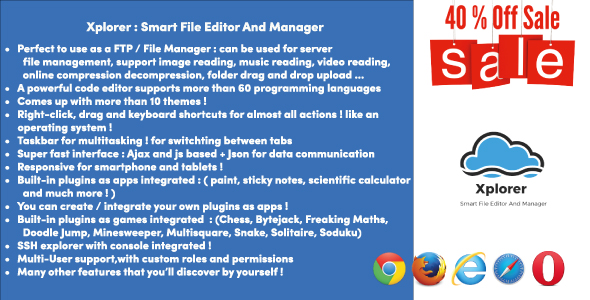 Xplorer - Smart File Editor And Manager