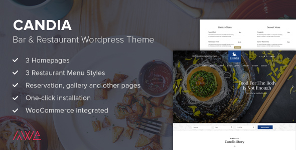 Candia - Bar & Restaurant WordPress Theme - Food Retail