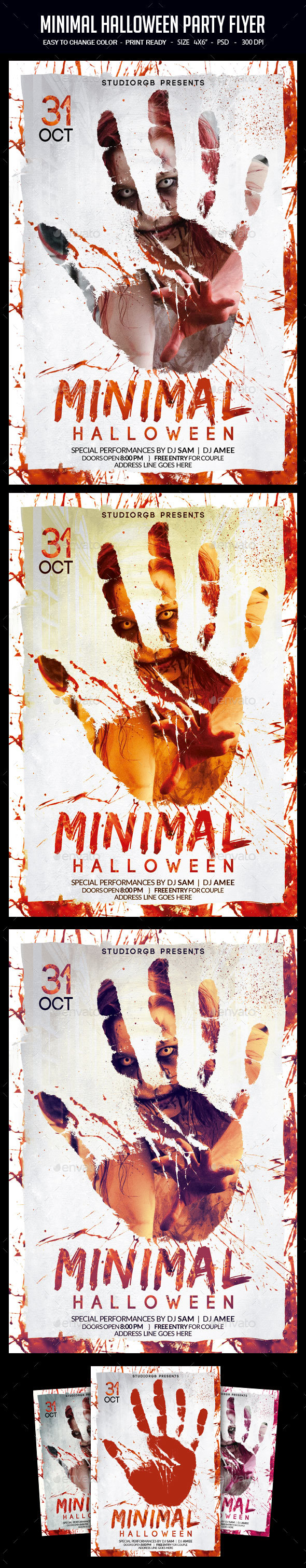 Minimal Halloween Party Flyer - Clubs & Parties Events