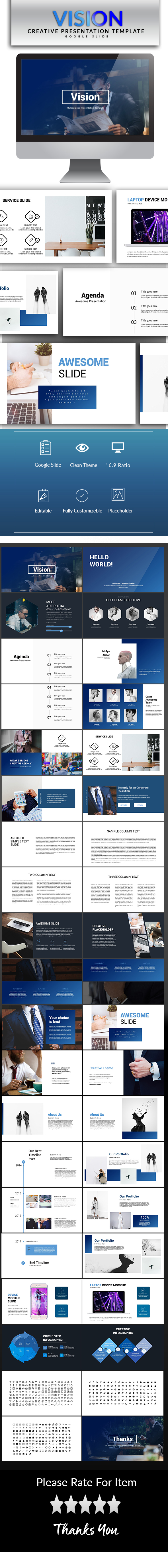 Vision Google Slide Template - Google Slides Presentation Templates