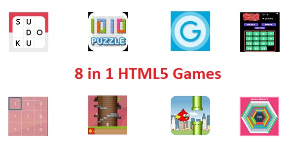 8 HTML 5 games - 8 in 1 - CodeCanyon Item for Sale
