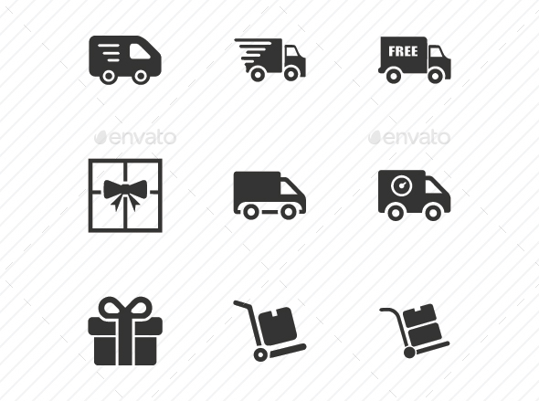 Delivery Service Icons - Gray Version - Business Icons