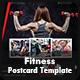Fitness / Gym Postcard Templates