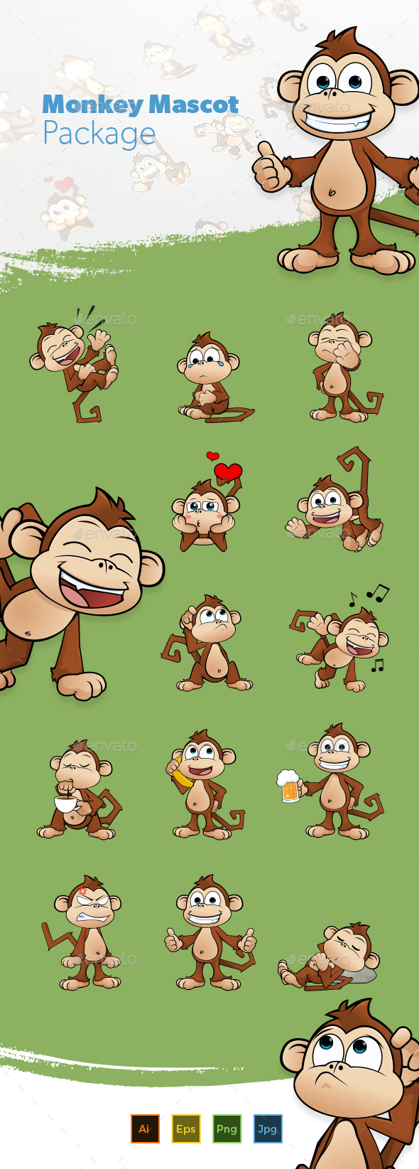 Monkey Mascot - Animals Characters
