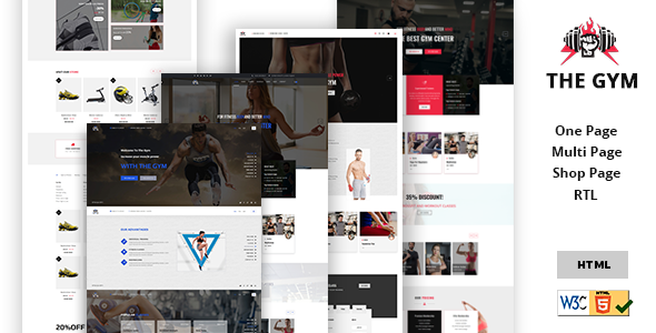 Download The Gym | Yoga, Gym, Fitness, Personal Gym Trainer & gym Shop Multipurpose HTML5 Template.