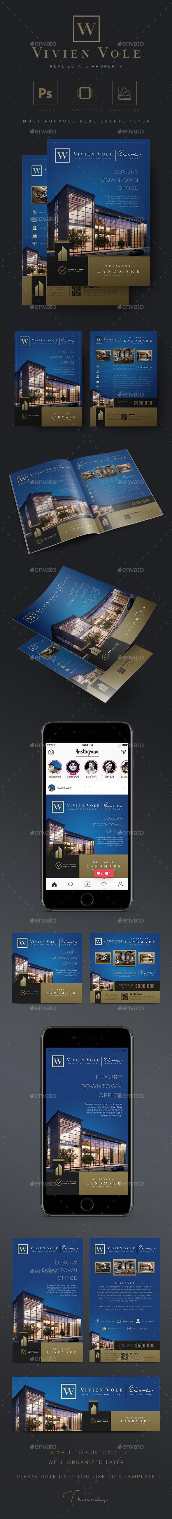 Business Landmark - Creative Real Estate Flyer - Commerce Flyers