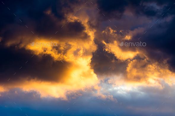 Dramtic Sky Background - Stock Photo - Images
