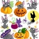 Halloween Clip Art and Digital Seamless Paper Set - GraphicRiver Item for Sale