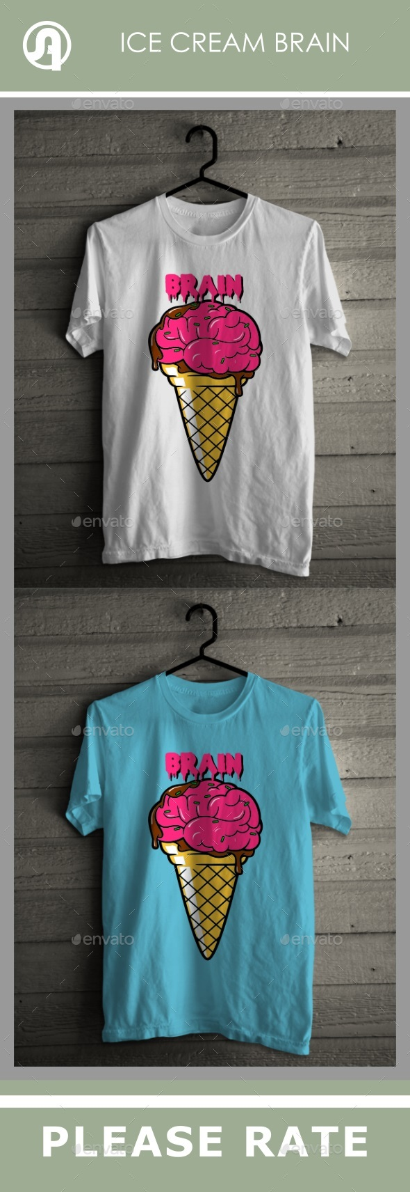 Icecream Cone Brain - T-Shirts