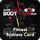Fitness / Gym Business Card Template