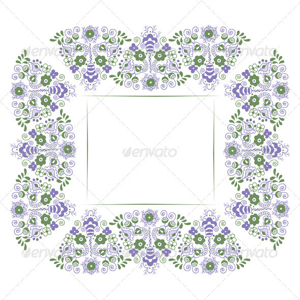 Floral Border Background - Borders Decorative