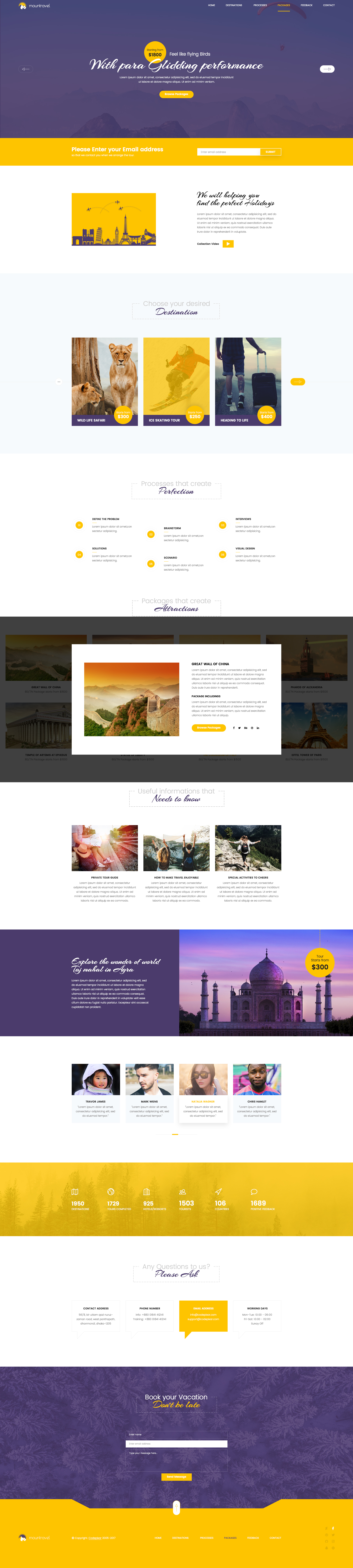 Mountravel Lead Generation Landing Page PSD Template By CodePixar - Lead generation website template