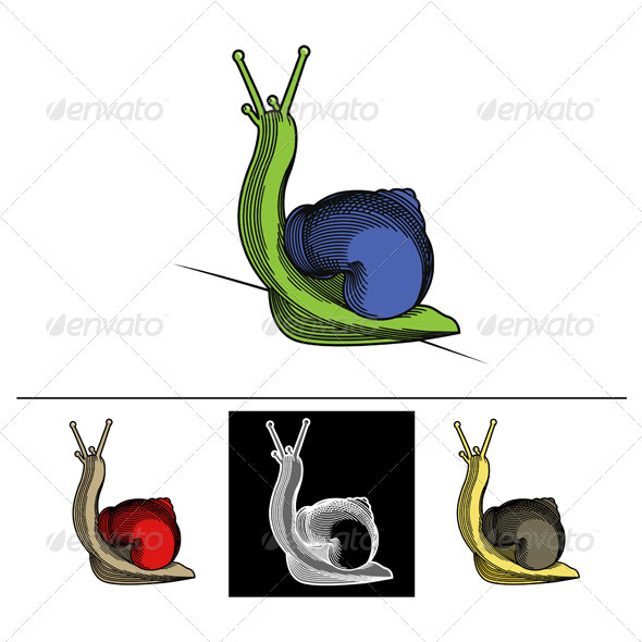 Cartoon Snail - Animals Characters