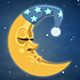 Sleeping Cartoon Moon - VideoHive Item for Sale
