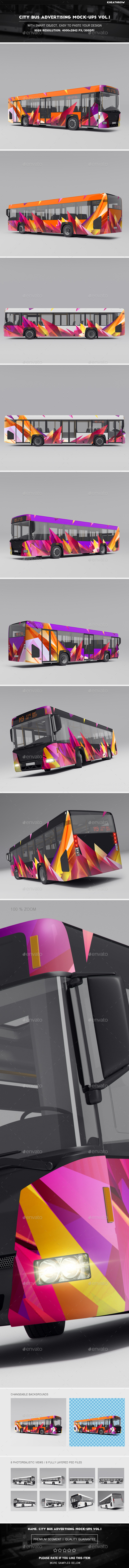 City Bus Advertising Mock-Ups Vol.1