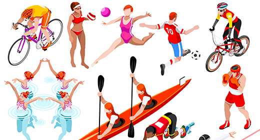 Sport People 3D Images Set