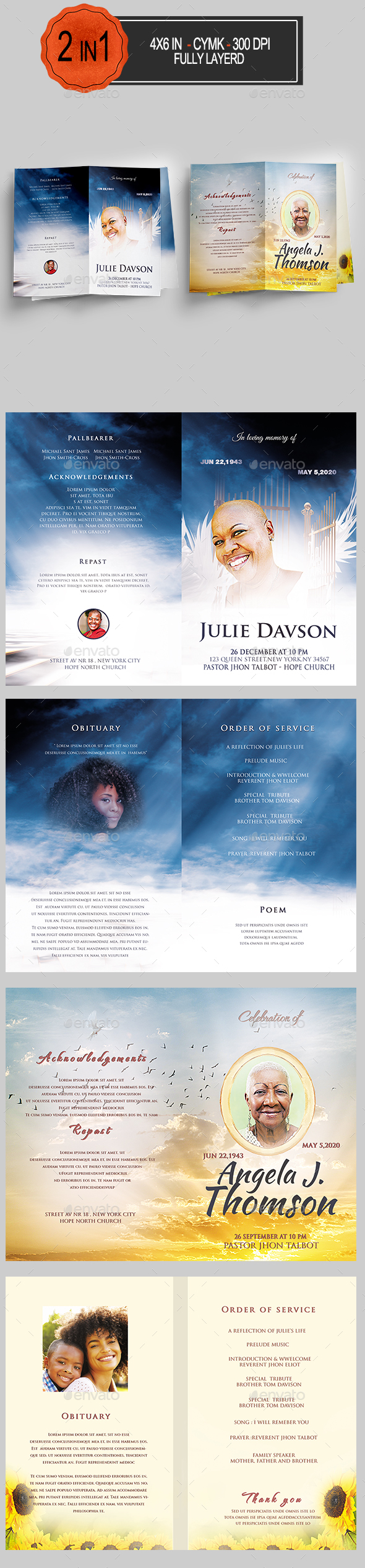 Funeral Program Bundle - Informational Brochures
