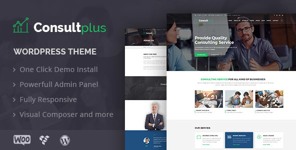 ThemeForest Consultplus Business Consulting WP Theme 20730915