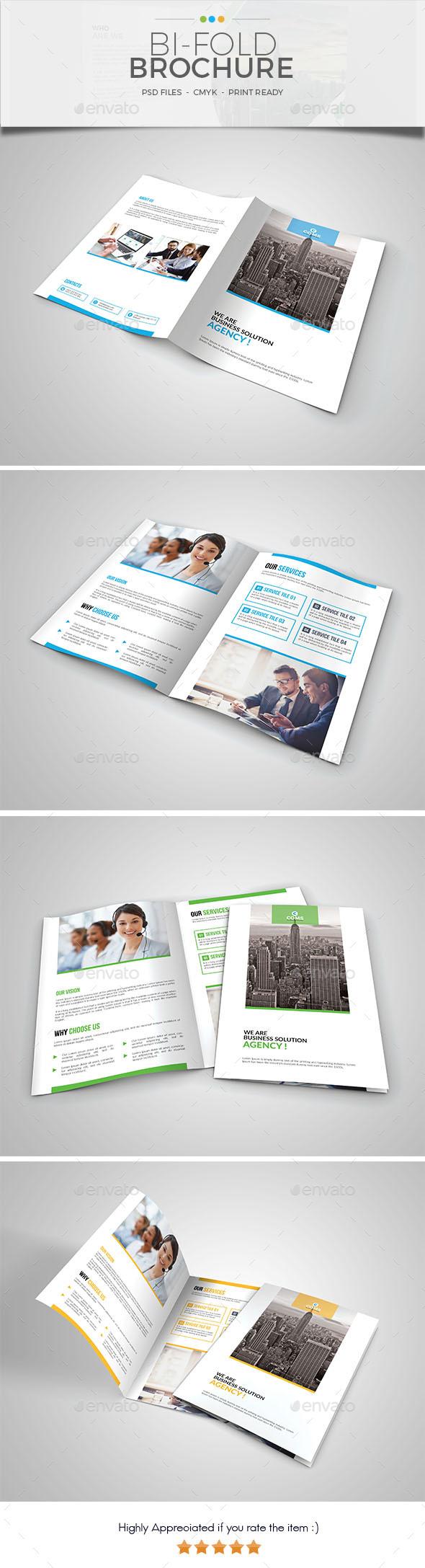 Corporate Bi Fold Brochure Template 04 - Corporate Brochures