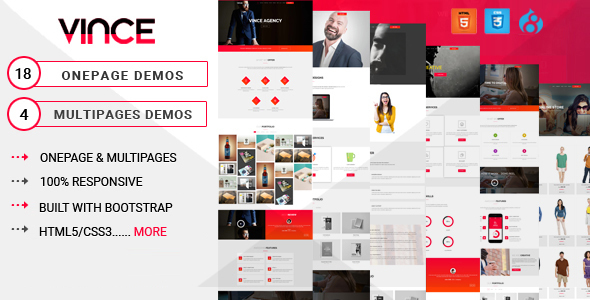 Image of Vince Onepage & Multipages Business Drupal 8 Theme