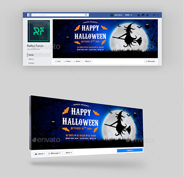Happy Halloween Facebook Cover - Facebook Timeline Covers Social Media