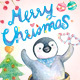 Watercolor Christmas with Penguins character - GraphicRiver Item for Sale