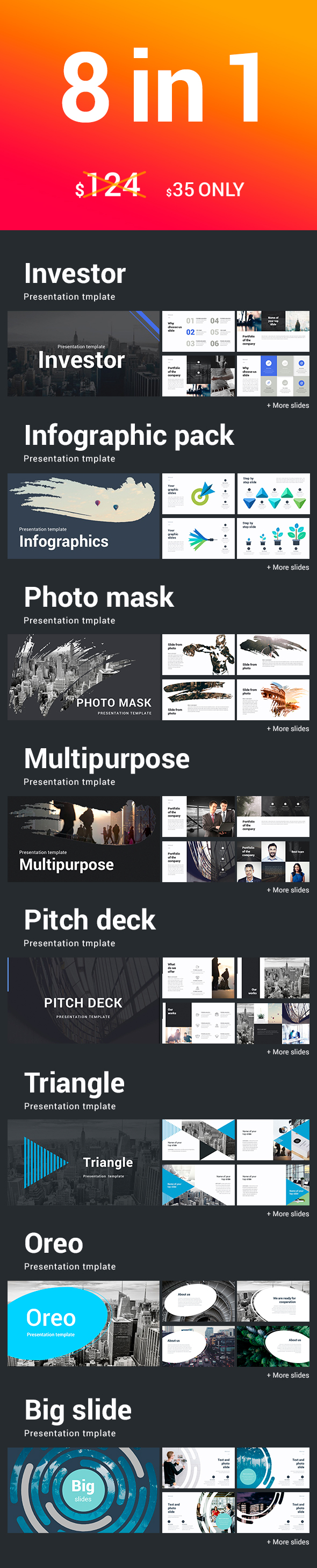 8 in 1 Powerpoint Bundle - Business PowerPoint Templates