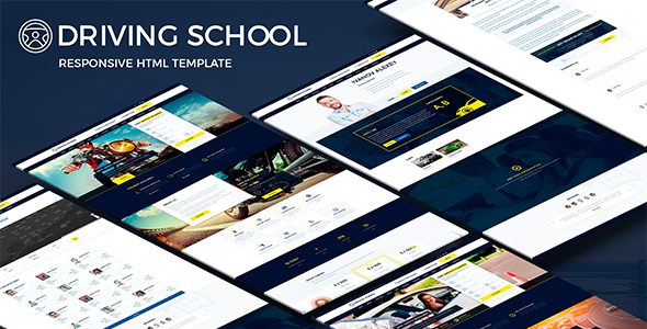 Driving School - Responsive HTML Template - Business Corporate