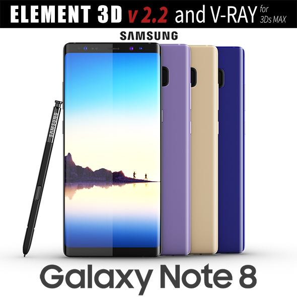 3DOcean Samsung Galaxy Note 8 All colors 20731902