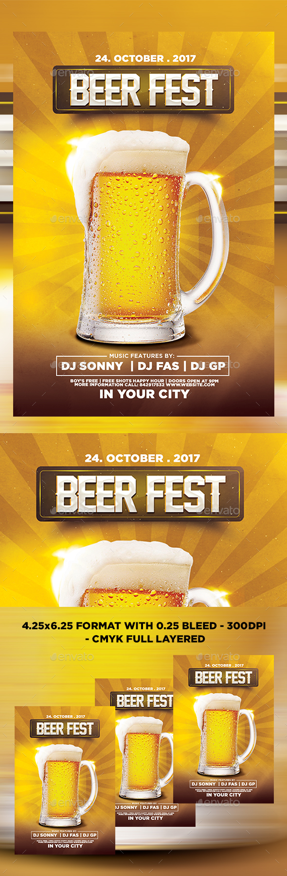 Beer Fest Flyer - Print Templates