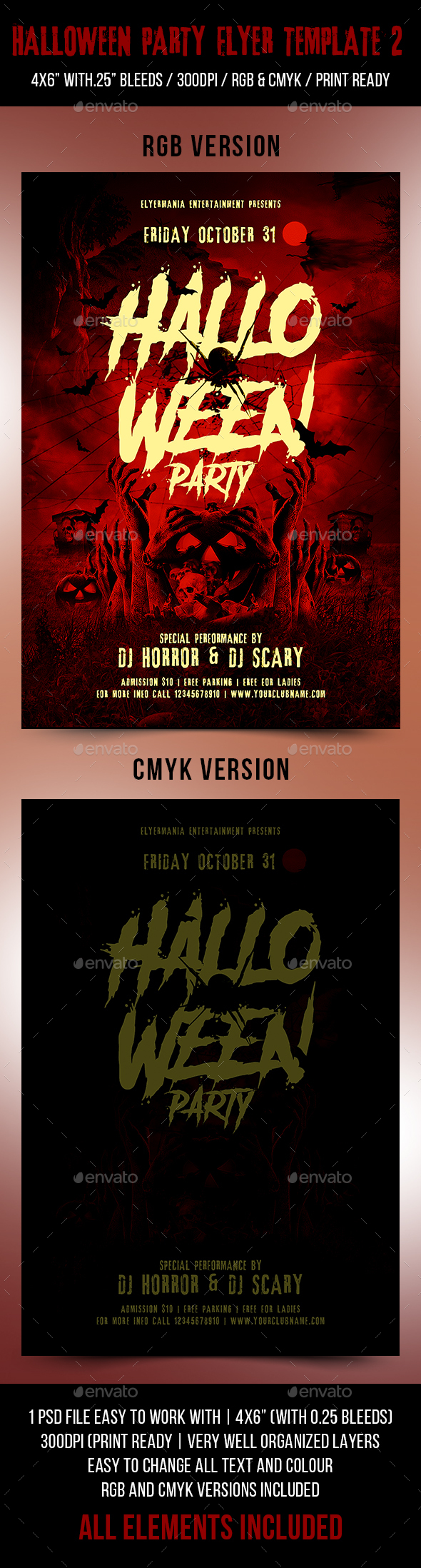 Halloween Flyer Party Template 2 - Flyers Print Templates
