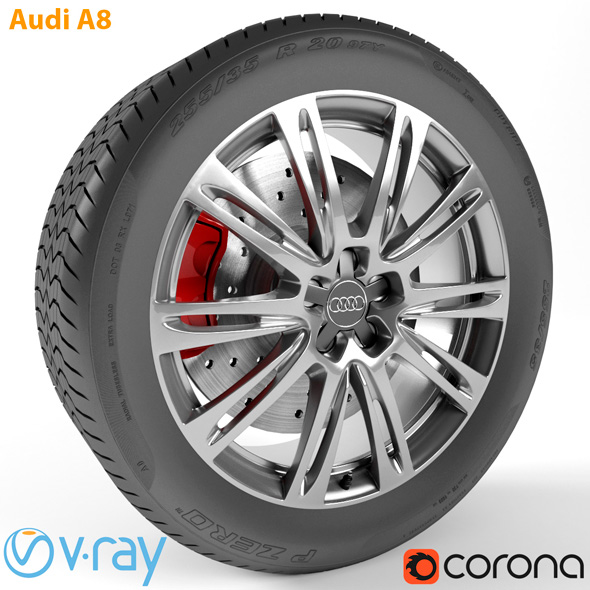 Audi A8 Wheel - 3DOcean Item for Sale
