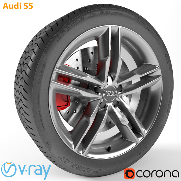 Audi S5 Wheel - 3DOcean Item for Sale