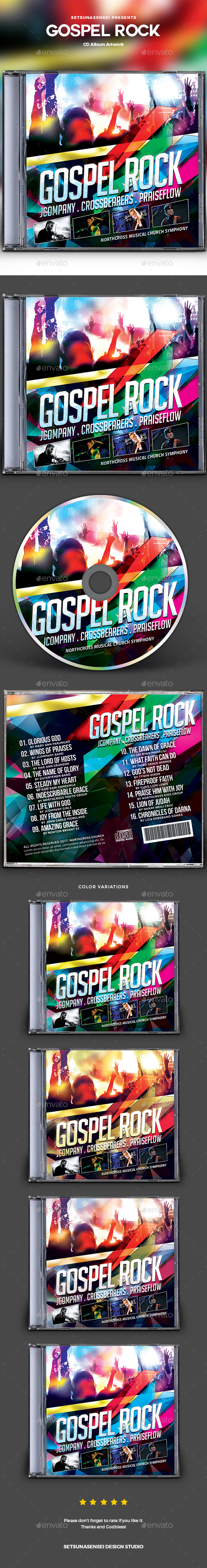 Gospel Rock CD Album Artwork - CD & DVD Artwork Print Templates