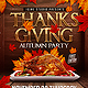 Thanksgiving Autumn Party Flyer Template - GraphicRiver Item for Sale