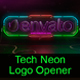 Tech Neon Logo Opener / Element 3D
