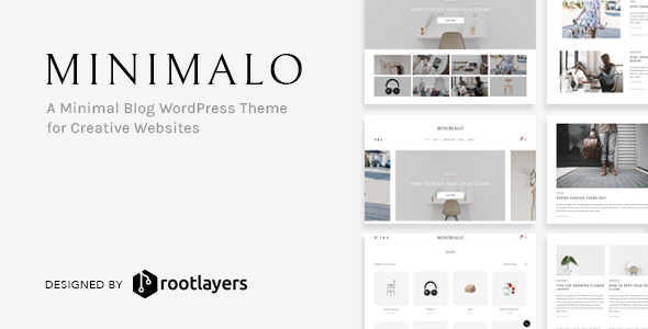 Image of Minimalo - A Minimal Blog WordPress Theme for Creative Websites