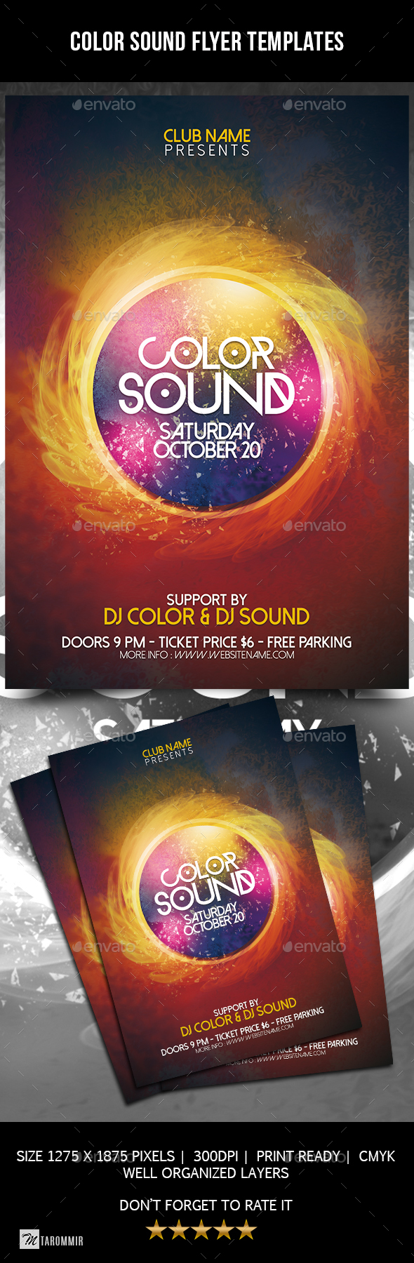 GraphicRiver Color Sound Flyer Template 20732823