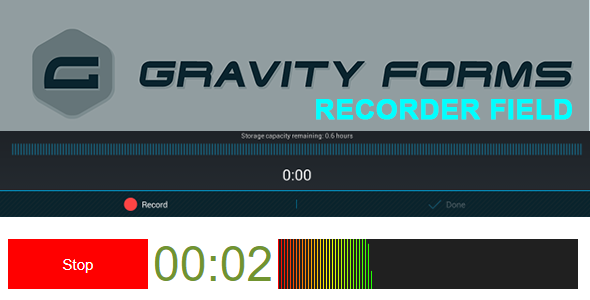 Gravity Forms Recorder Field - CodeCanyon Item for Sale