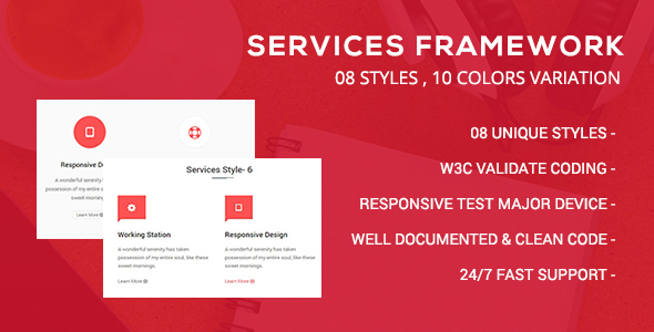CSS3 Services Framework - CodeCanyon Item for Sale